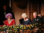 Dame Edna Everage, played by Austrlian comic Barry Humphries, took a seat in the Royal box next to Charles and Camilla during this year's Royal Variety Performance