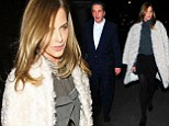Charles Saatchi dines out with former TV stylist Trinny Woodall at restaurant of choice Scott's in Mayfair, London