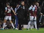 Affronted: Joe Cole was substituted in the first half during West Ham's defeat by Chelsea at the weekend