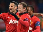 Brilliant: Wayne Rooney supplied all four goals in a wonderful performance