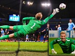 Stopper: Joe Hart conceded twice for City in the win over Viktoria Plzen on his return to the team