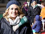 Keep smiling! Carrie Underwood brushes off Brad Paisley affair rumours to rehearse for the Macy's Thanksgiving Day Parade