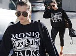 Letting off some steam: Downcast Khloe Kardashian heads to the gym as she's still yet to face husband Lamar after emergence of his damning 'drugged out' video