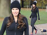 Oh baby! Tamara Ecclestone shows off her growing bump as she walks dog around Hyde Park