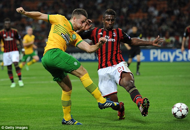 Doubters: Many felt that Celtic did not deserve to lose 2-0 to Milan at the San Siro