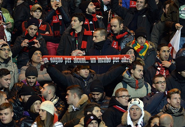 Crowd trouble: Milan's Ultras have been on top of the team after a disappointing start to Serie A