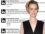 Twitter tirade: Evan Rachel Wood, shown earlier this month at the Charlie Countryman premiere in New York City, posted a series of tweets on Wednesday critical of the film ratings board