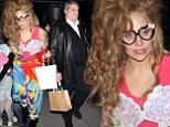 That's my girl! Lady Gaga wears a leotard, seashell bra and rainbow trousers for Japanese dinner date... with her dad