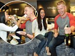 'Can't wait to fully enjoy this bedding': Catherine Giudici posts risque message as she reclines on a mattress with fiance Sean Lowe