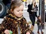 Kimberly Stewart grabs coffee with daughter Delilah