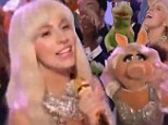 Kermit and Miss Piggy applauding! Lady Gaga gives fans a sneak peek of her Muppets' Holiday Spectacular