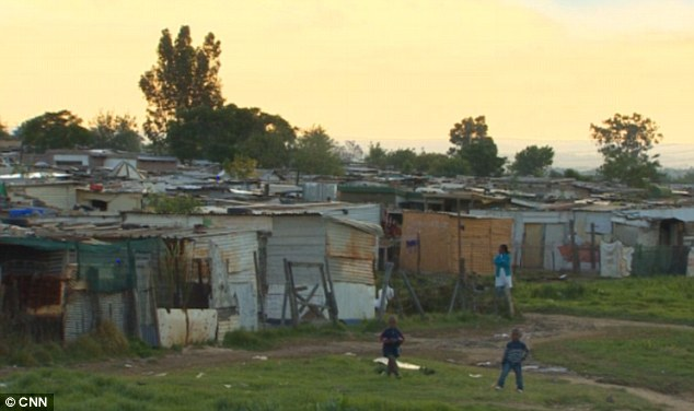 Violent: Diepsloot is one of the most crime-ridden areas in South Africa