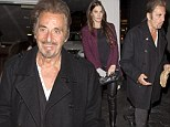 She'd better be thankful for him! Al Pacino is a charismatic dreamboat in spite of ponytail at romantic pre-Thanksgiving dinner with girlfriend Lucila Sola, 33