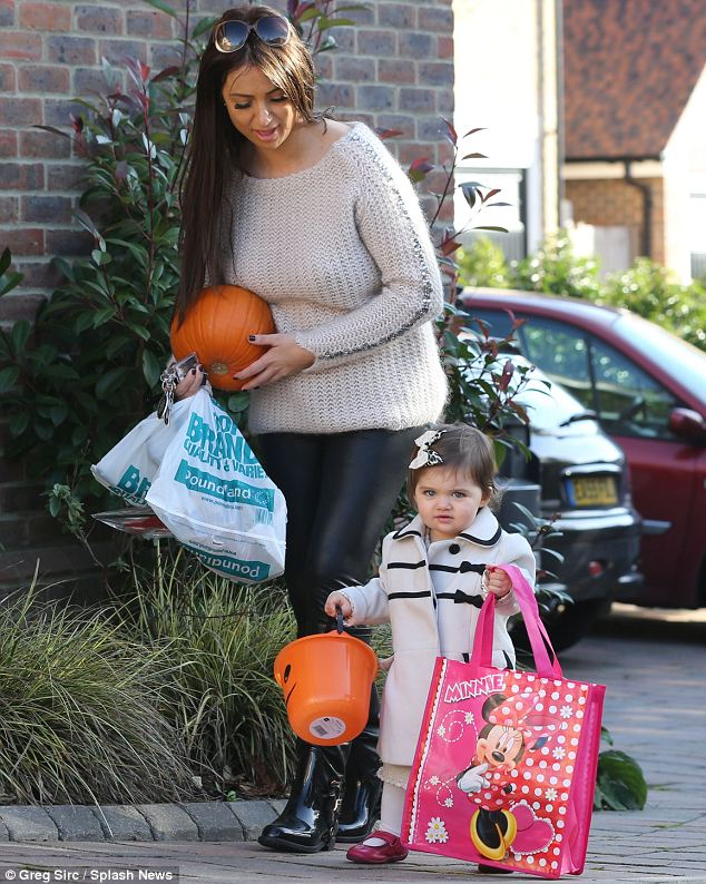 Shopping outing: The mother and daughter picked up some Halloween essentials
