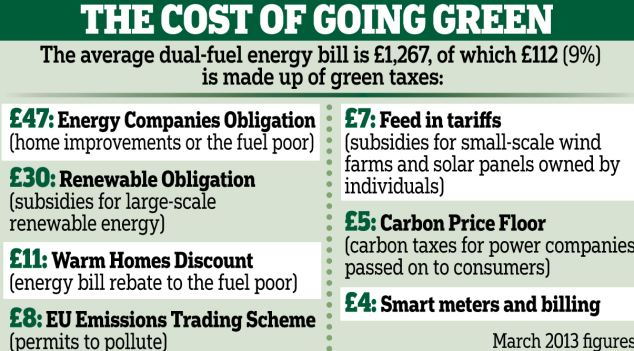 the cost of going green