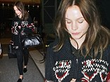 Carey Mulligan is seen arriving at LAX airport