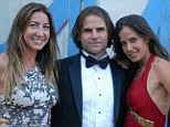 Polyamorous: Kamala Devi (right) and Michael McClure (center), aged 38 and 49 respectively, have been married for 12 years but they both swore off monogamy - six months ago they welcomed 27-year-old bisexual Rachel Rickards (left) into their home