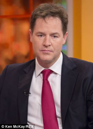 Warning: Deputy Prime Minister Nick Clegg insisted he would not allow green levies to be scrapped altogether
