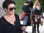 Is Kris turning into a Kim klone? Newly-single Jenner dresses just like her daughter with a plaid shirt tied over ripped jeans