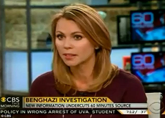 Apology: Lara Logan said that they were wrong to air her interview with a man called Dylan Davies who, it has since been revealed, lied about his role on the night of the attacks on the American mission to Benghazi
