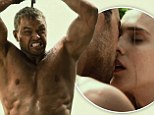 A smooch with a Greek princess, action-packed stadium battles and THAT six pack! Kellan Lutz fights his way through new dramatic Hercules trailer