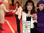 Jackie Collins with the Queen