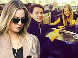 'Thanksgiving travels with my partner in crime!' Kaley Cuoco and fiance Ryan Sweeting jet out of LA for the holidays