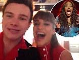 'We LOVE you!': Glee stars Chris Colfer, Lea Michele and Naya Rivera send video message to DWTS winner Amber Riley