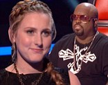Last hope: Caroline Pennell was mentor Cee Lo Green's last singer left on Tuesday on The Voice as the field was narrowed to six on the hit NBC singing competition show