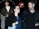 Amy Adams, Darren Le Gallo and another couple arrive at Staples Center