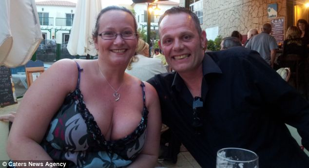 Mrs Barrett (pictured in 2012 after her reconstructive surgery) said: 'I was almost too scared to [have more surgery], but soon I realised I had a flat tummy, a belly button - and no penis. It was amazing, I couldn't stop crying'