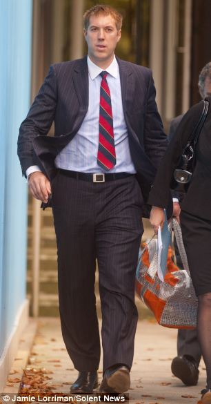 Royal Navy lieutenant Roland Wilson leaving court. A judge said the crew were like 'rabbits in the headlights'