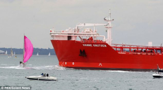 'Infamous' footage of the crash shows Wilson's boat, Atlanta of Chester, sailing close to the tanker