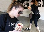 Khloé puts her famous Kardashian kurves on display in skin-tight leggings as she hits the gym for third day in a row as divorce rumours heat up