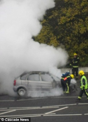 New Malden fire fighters said the student was understandably 'shaken up' by the incident which could have taken her life