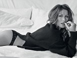 Between the sheets with Gisele Bündchen: Brazilian beauty draped across bed in sexy lingerie for new Vogue shoot