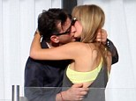 New romance: Charlie Sheen marked Thanksgiving with a passionate embrace with a mystery blonde in Cabo San Lucas, Mexico, on Thursday