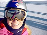 She's back! Lindsey Vonn posted this image taken in Vail, Colorado, on her Facebook page today along with a message that read in part: 'First day back on snow since my crash and it was awesome!'