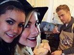 No awkwardness here! Nina Dobrev spends Thanksgiving with Julianne and the Hough family... six weeks after split with dancer Derek