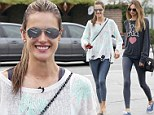 Those are some good genes! Alessandra Ambrosio shows off toned legs as she steps out with lookalike sister Aline and daughter Anja on Thanksgiving