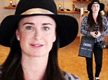 Make-up free Kyle Richards shows off youthful complexion as she takes a break from her own store for a spot of shopping