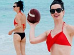 Krysten Ritter shows off her toned bikini body and some colorful swimwear on Mexico vacation