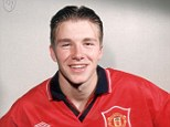 Tricky: David Beckham was forced into an embarrassing initiation as a youngster at Manchester United