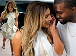 Just the two of us: Kanye West and Kim Kardashian left their daughter North behind for a shopping trip in Miami on Friday