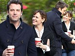 Ben Affleck and Jennifer Garner enjoy a coffee and stroll
