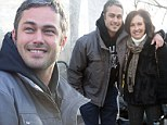 Meet my OTHER lady! Gaga¿s guy Taylor Kinney celebrates at the Macy's Thanksgiving Day Parade with his Mom