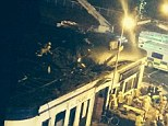 Twitter picture of the Clutha Bar in Glasgow where a police helicopter has crashed into the roof