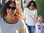 Minnie me! Driver and her curly-haired cutie Henry make a simple shopping day fun