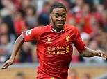 Frozen out: 18-year-old prospect Raheem Sterling has featured very little for Liverpool this season