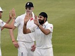 Target: A public announcer was sacked for making what appeared to be a racial slur at Monty Panesar